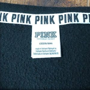 PINK Victoria's Secret Tops - PINK Sweatshirt Black with white lettering. Large